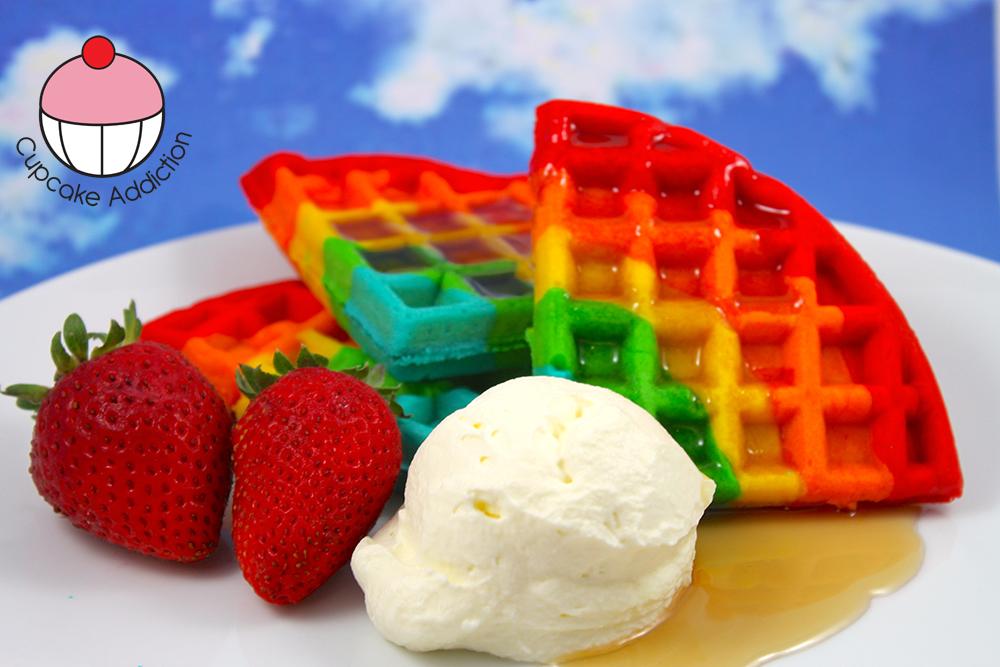 Rainbow Waffles My Cupcake Addiction Blog