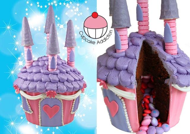 princess-castle-pinata-giant-cupcake-cake