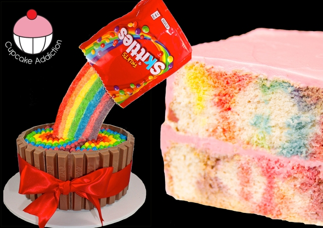Skittles Poke Cake Cookies Cupcakes And Cardio