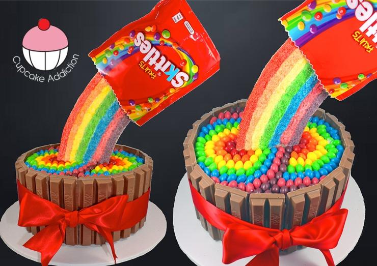 Skittle Cake Topper