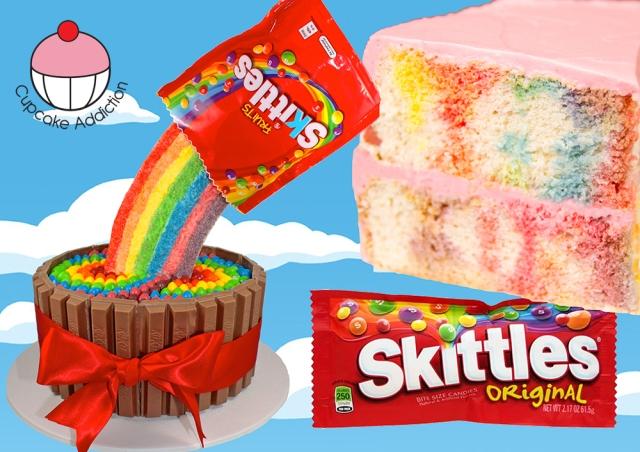 Cake With Skittles Inside