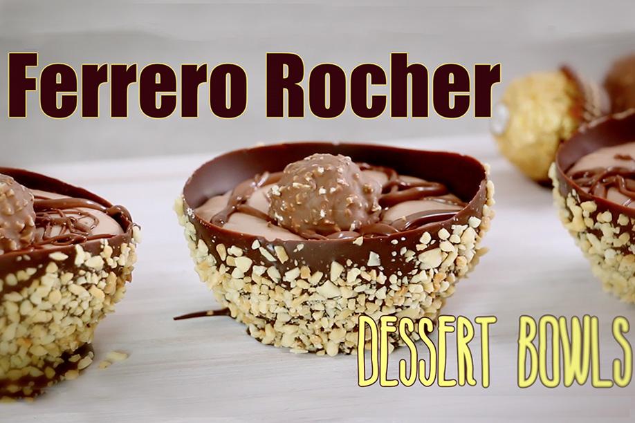Ferrero Rocher Chocolate Dessert Bowls