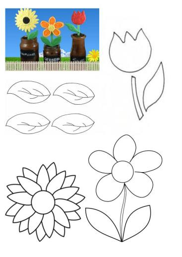 Nutella Flowerpot Cakes template