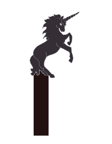 unicorn cake topper template