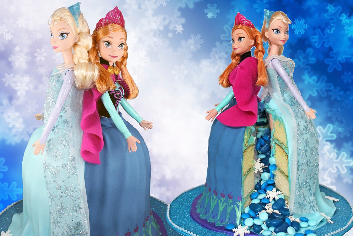 Elsa And Anna Frozen Princess Cake
