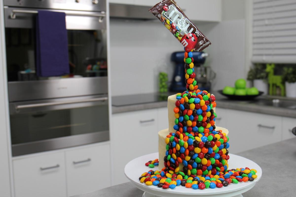 Gravity Defying M Amp Ms Cake