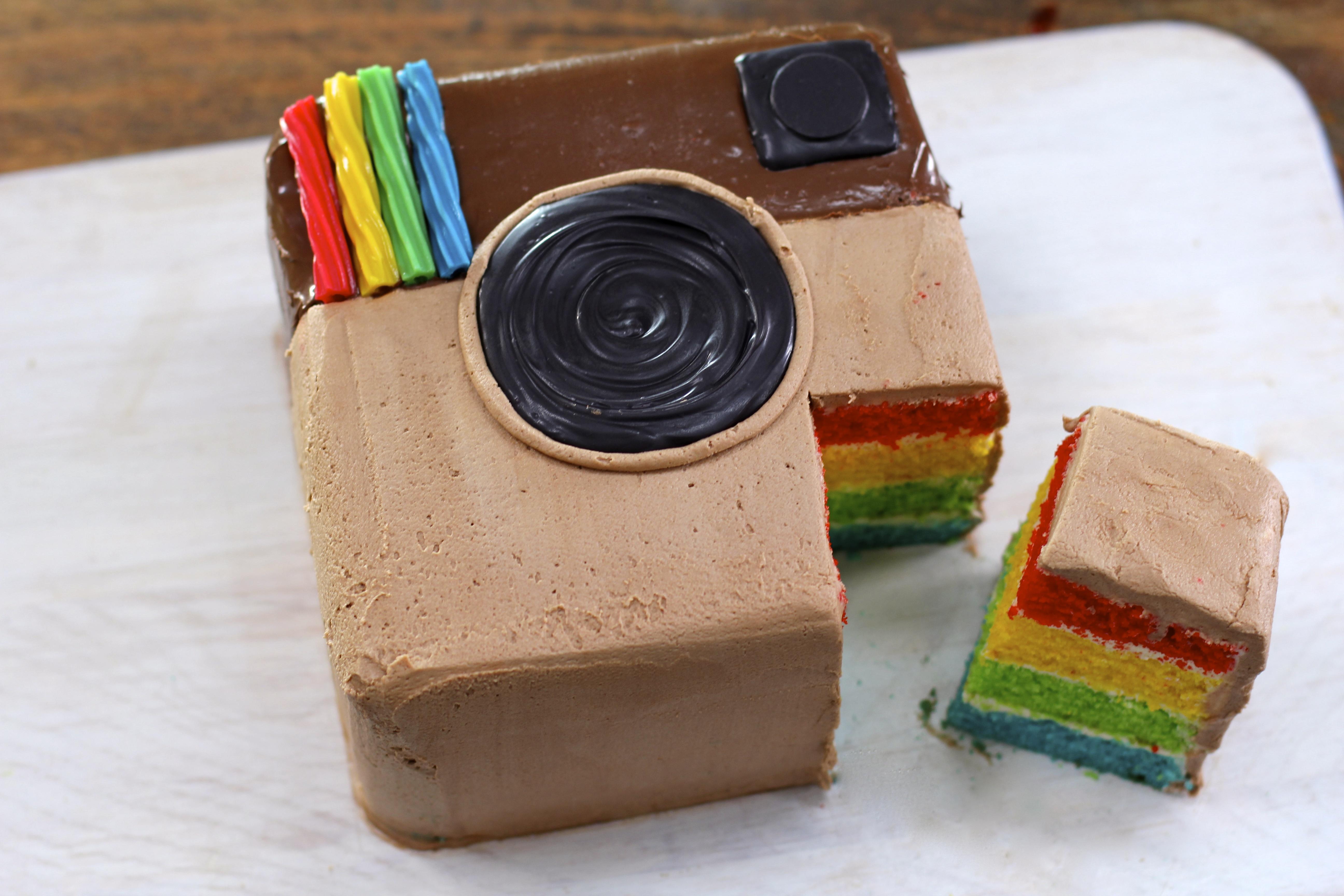 My Cupcake Addiction Rainbow Cake