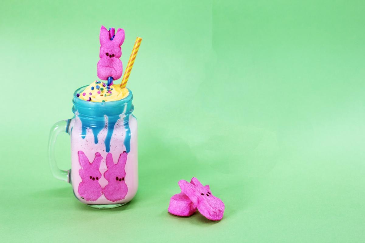 Peeps Milkshake Perfect For Easter