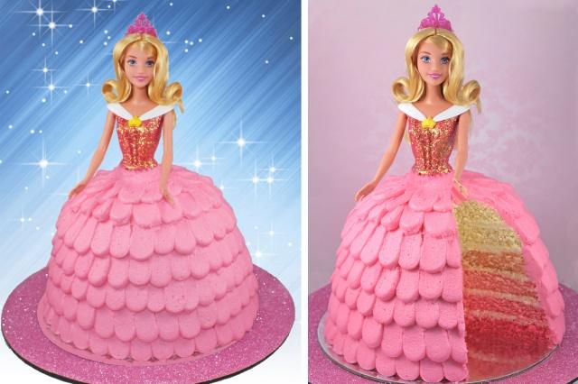 Fine Sleeping Beauty Princess Cake Personalised Birthday Cards Paralily Jamesorg
